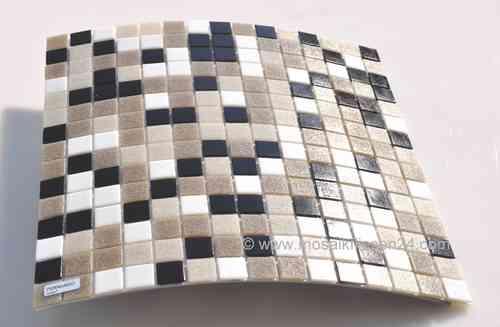 Mosaikfliesen grau  Mosaikfliesen GRAU - Glasmosaik Keramikmosaik Naturstein Crystal