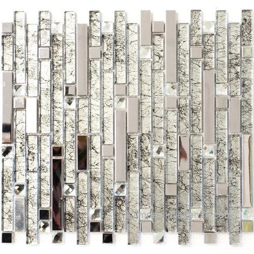 crystal glasmosaik mit naturstein mosaik   mosaikfliesen24, Hause deko