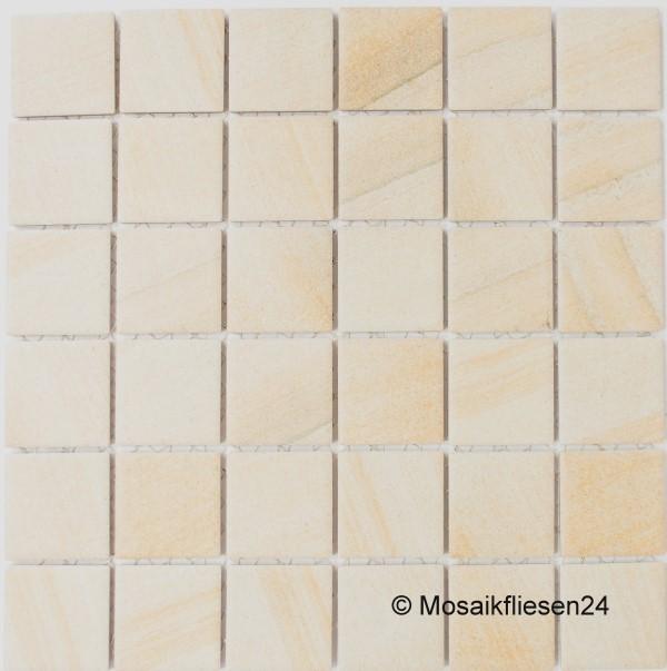 1 Karton 0 93 Qm Keramikmosaik Natursteinoptik Beige Matt