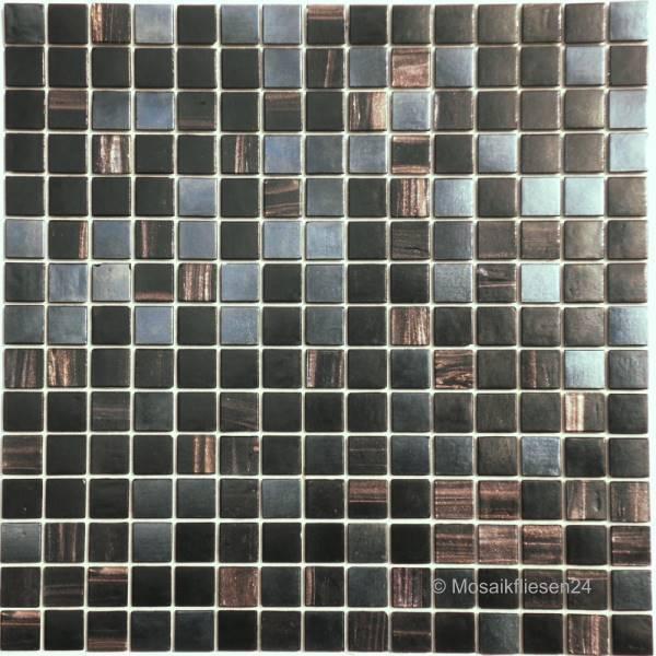 Glasmosaik Elements VESUV Schwarz Perl Effekt Mosaikfliesen - Mosaik fliesen frostfest