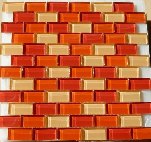 Posten 072 Fundgrube 0,97qm Crystalmosaik rot-orange