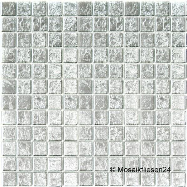 Mosaikfliesen SILBER - Glasmosaik Keramik Metall Mosaik Fliesen