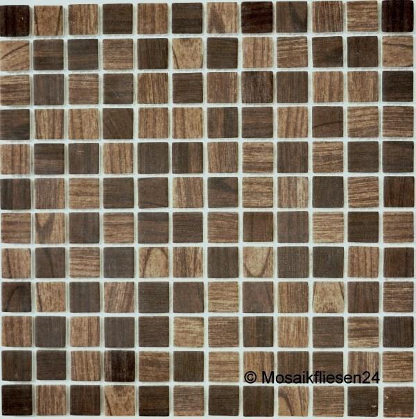 Mosaikfliesen BRAUN Glasmosaik Keramik Naturstein Mosaik Fliesen - Bodenfliesen braun glänzend
