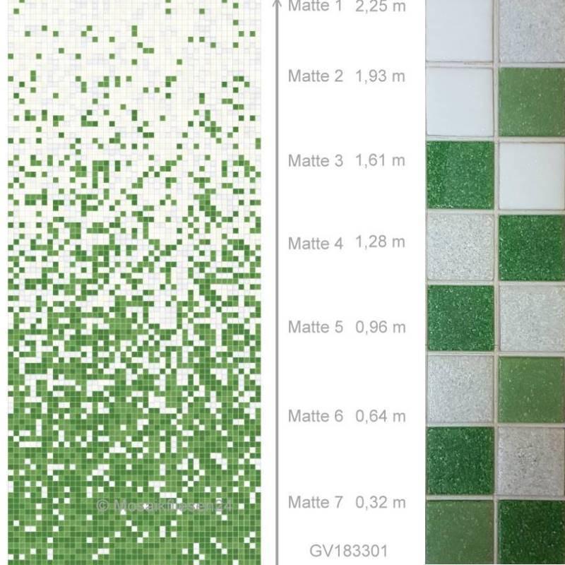 Glasmosaik Edition18 M7 Farbverlauf Weiss Grun Mosaikfliesen 24